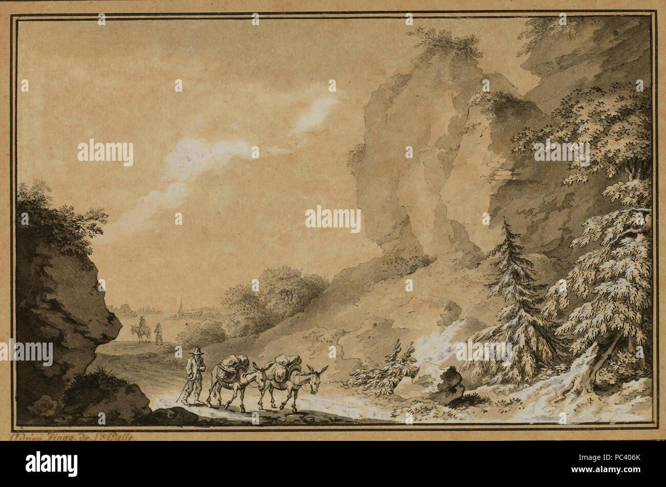 Adrian Zingg - Schweizer Landschaftsimpressionen 01. Stock Photo