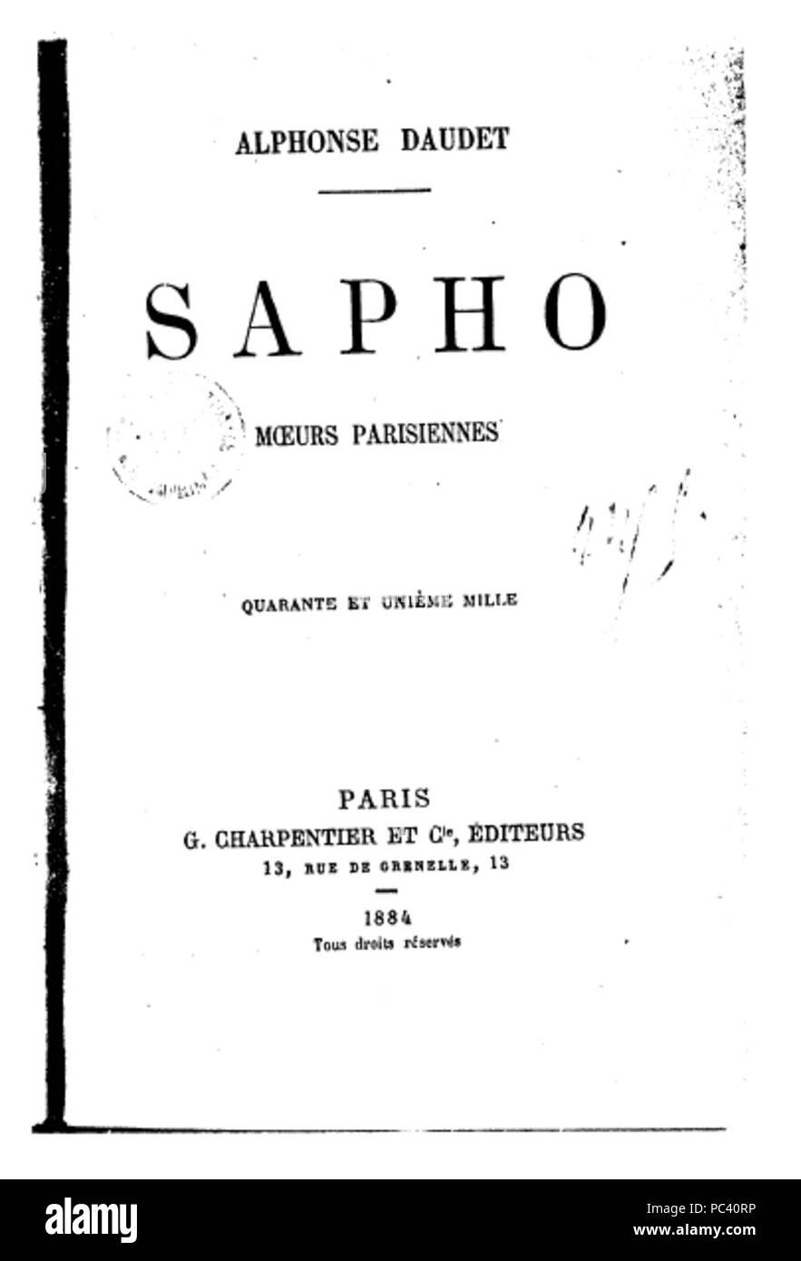 543 Sapho - Stock Image