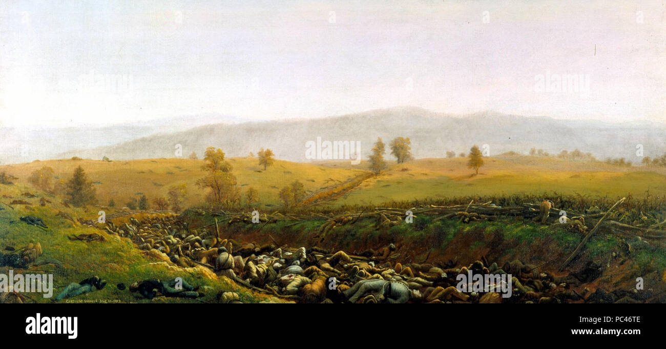 592 The Aftermath at Bloody Lane by Captain James Hope - Stock Image