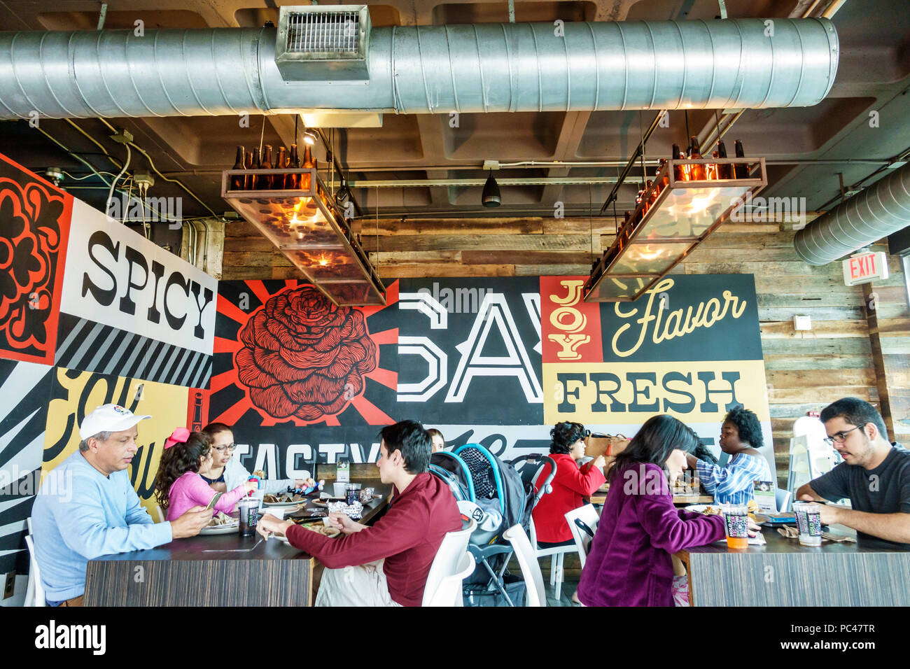 Miami Florida Salsa Fiesta Mexican Restaurant Interior Industrial