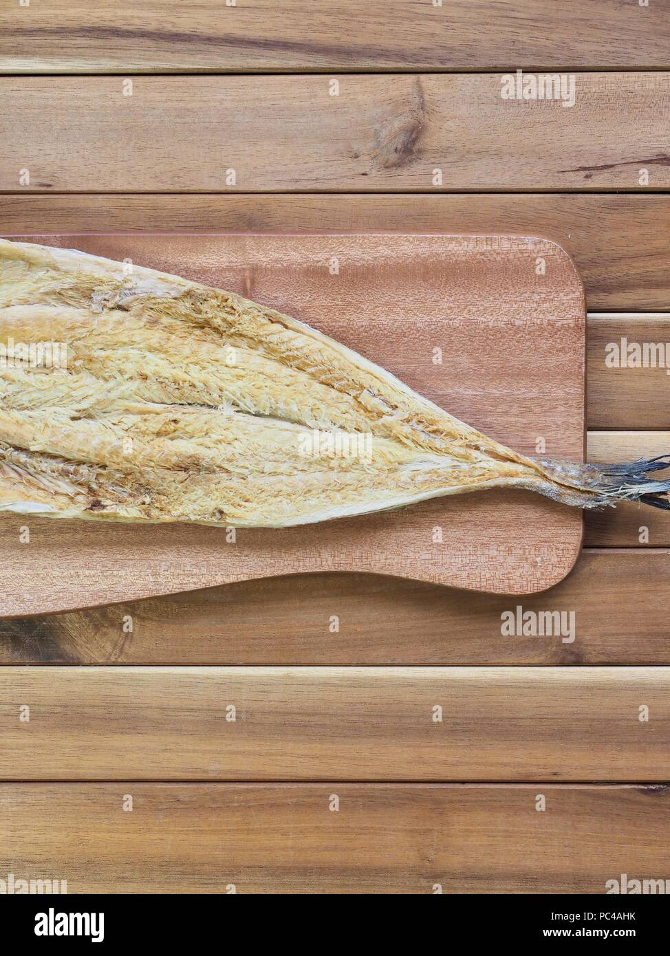 Korean food ingredients dried fish - Stock Image