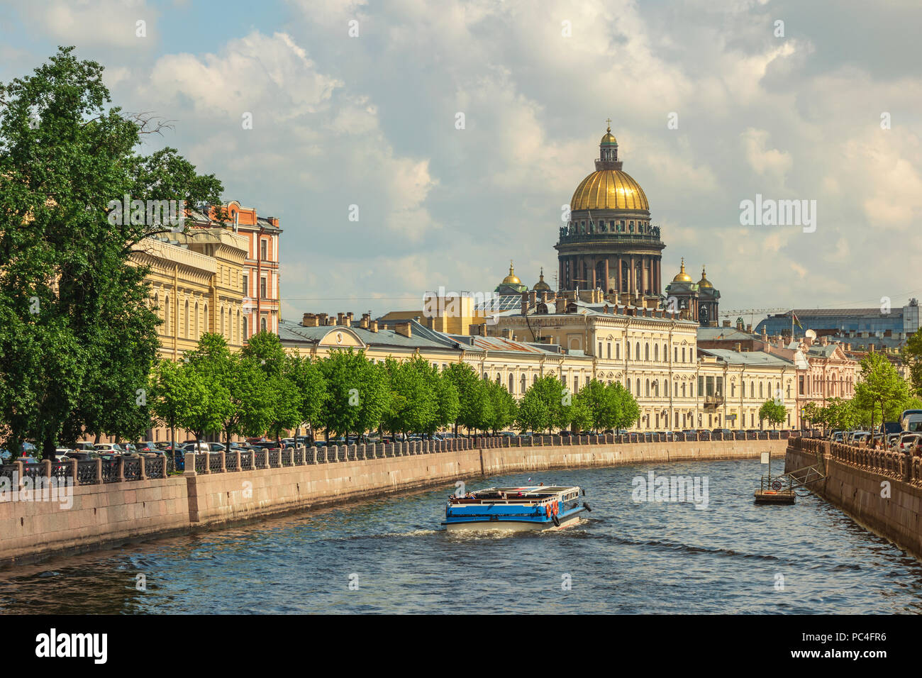 Saint Petersburg city skyline at Saint Isaac Cathedral, Saint Petersburg, Russia - Stock Image
