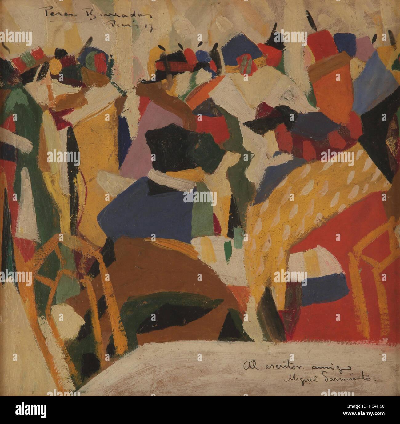 602 The-tango-emocion-de-color-escena-de-cafe-multitud Stock Photo