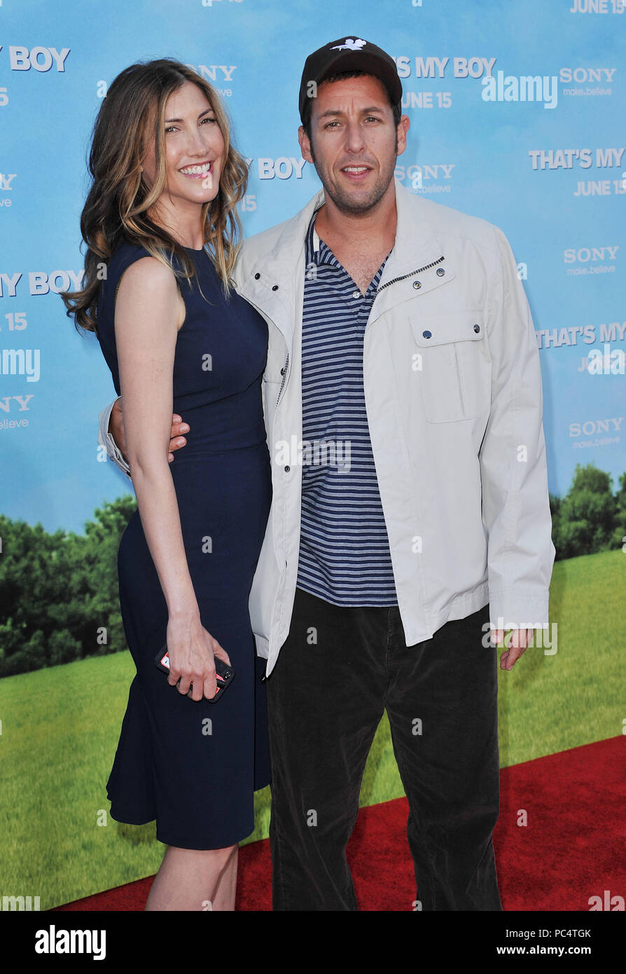 Adam Sandler and wife Jackie at the That's My Boy Premiere