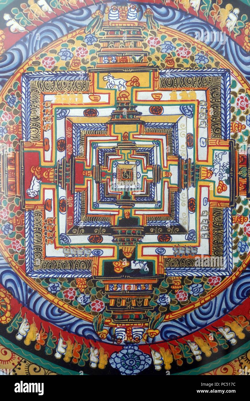A Mandala Is A Spiritual And Ritual Symbol In Hinduism And Buddhism