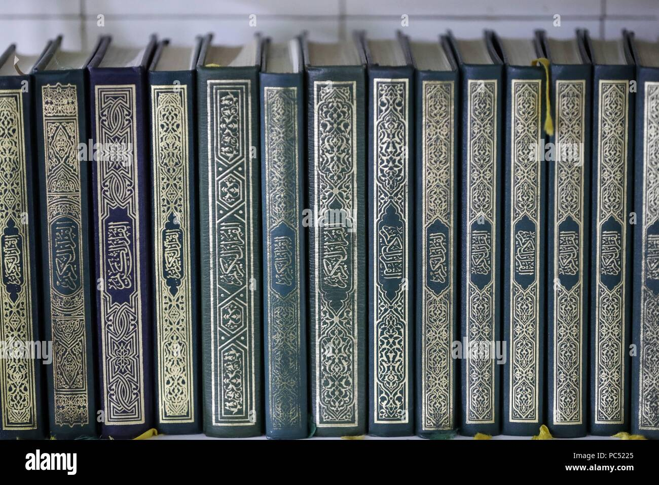 Holy Quran books  | usage worldwide Stock Photo: 214011677