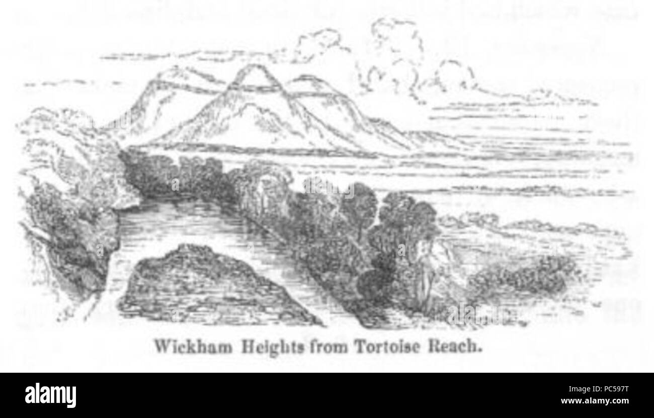 645 Wickham Heights (Discoveries in Australia) - Stock Image