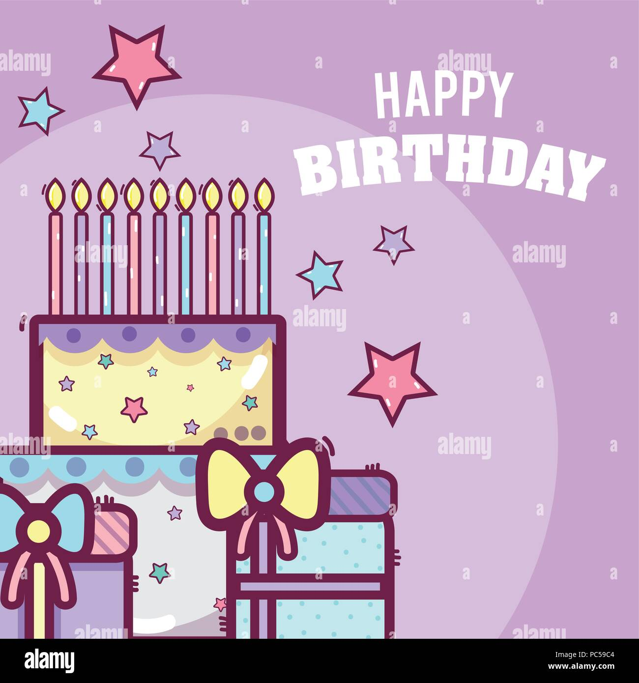 Happy birthday card - Stock Image