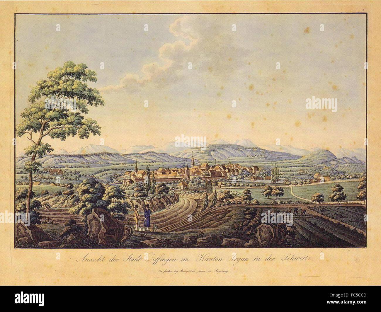 662 Zofingen 1805 - Stock Image