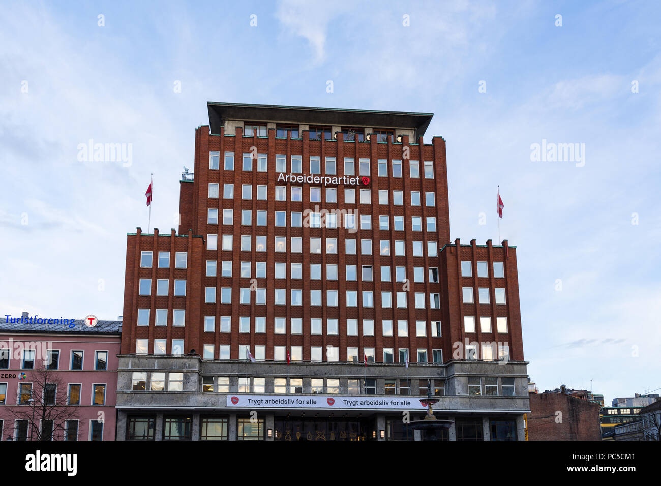 OSLO, NORWAY - APRIL 26, 2018: The Norwegian Labour party headquarters - Stock Image