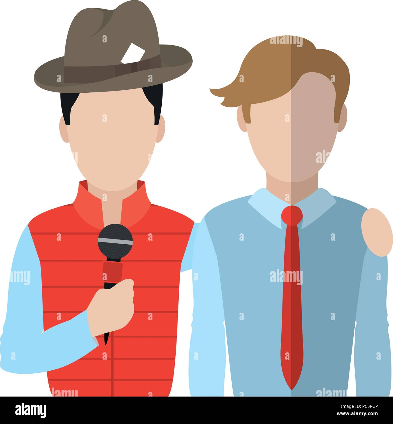 professional partner journalist news reportage - Stock Image