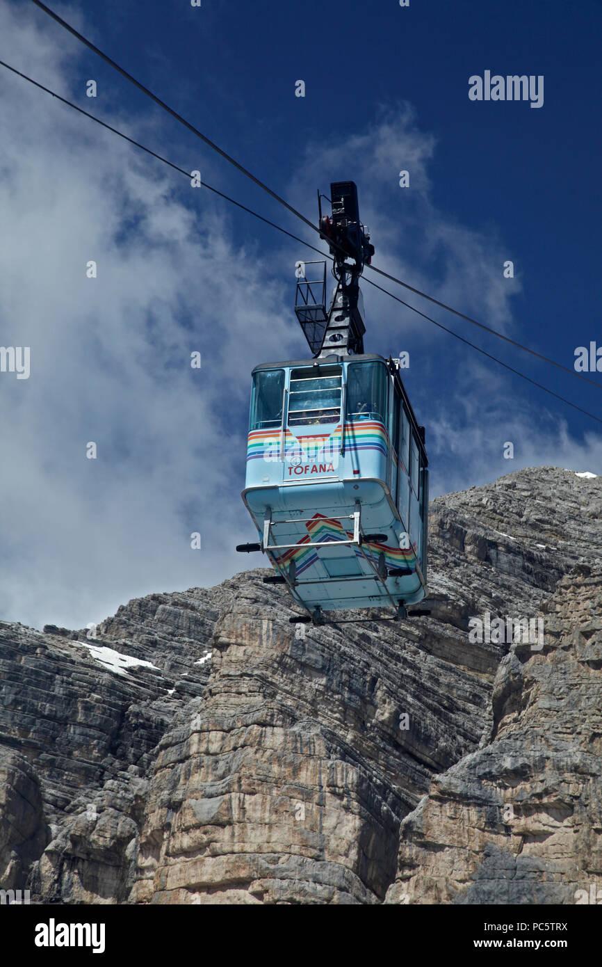 Tofana Cable Car, Cortina d'Ampezzo, Italy - Stock Image