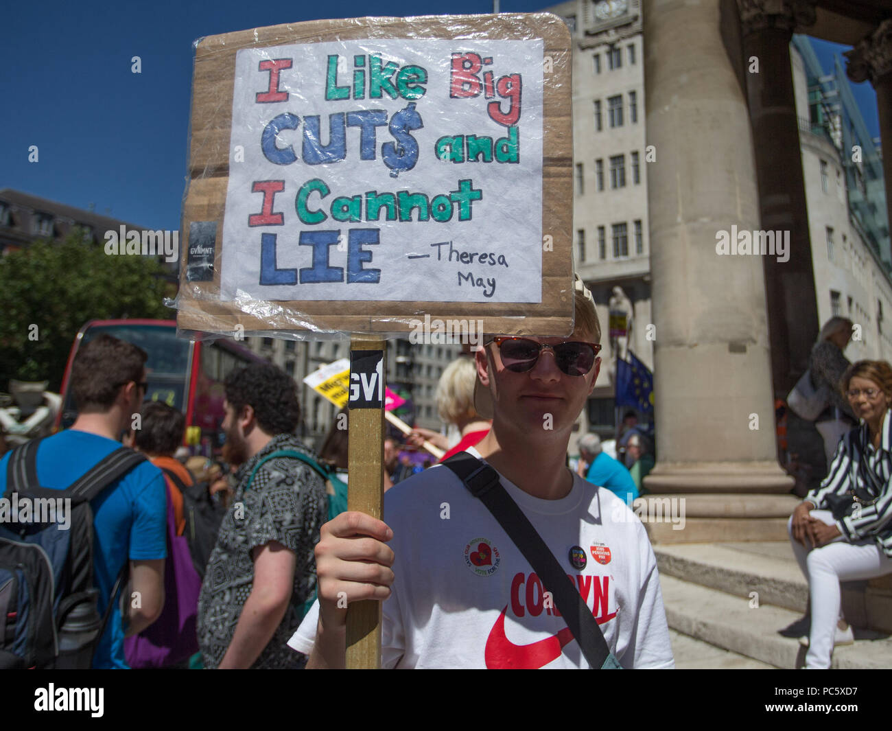 Tens of thousands of people join a huge demonstration to mark the 70th anniversary of the National Health Service.  Featuring: Atmosphere, View Where: London, England, United Kingdom When: 30 Jun 2018 Credit: Wheatley/WENN - Stock Image