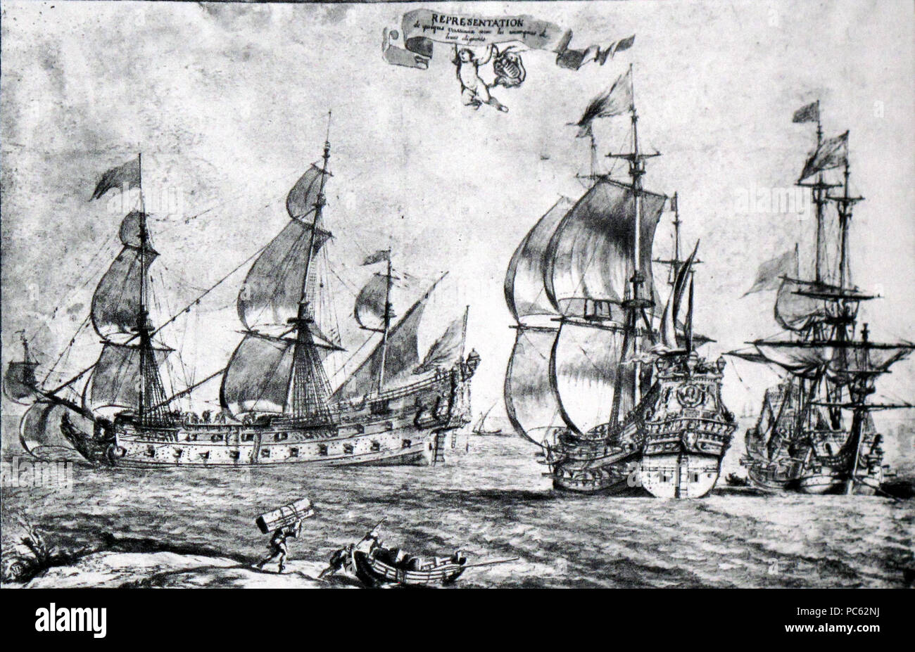 221 French ships of the line-Pierre Puget-img 3211 - Stock Image