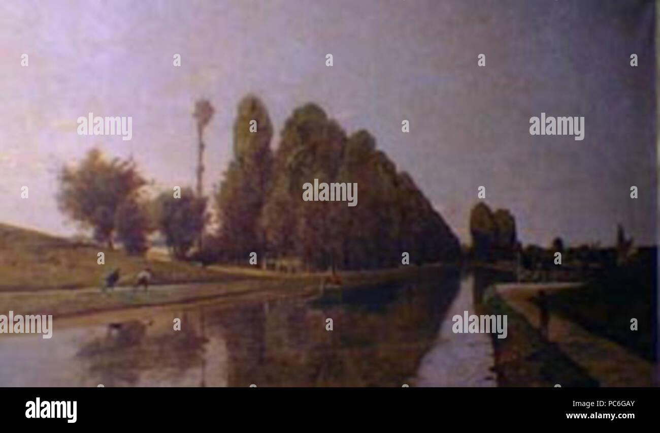 42 Henri Harpignies - El Canal de Briare-Loire - Stock Image