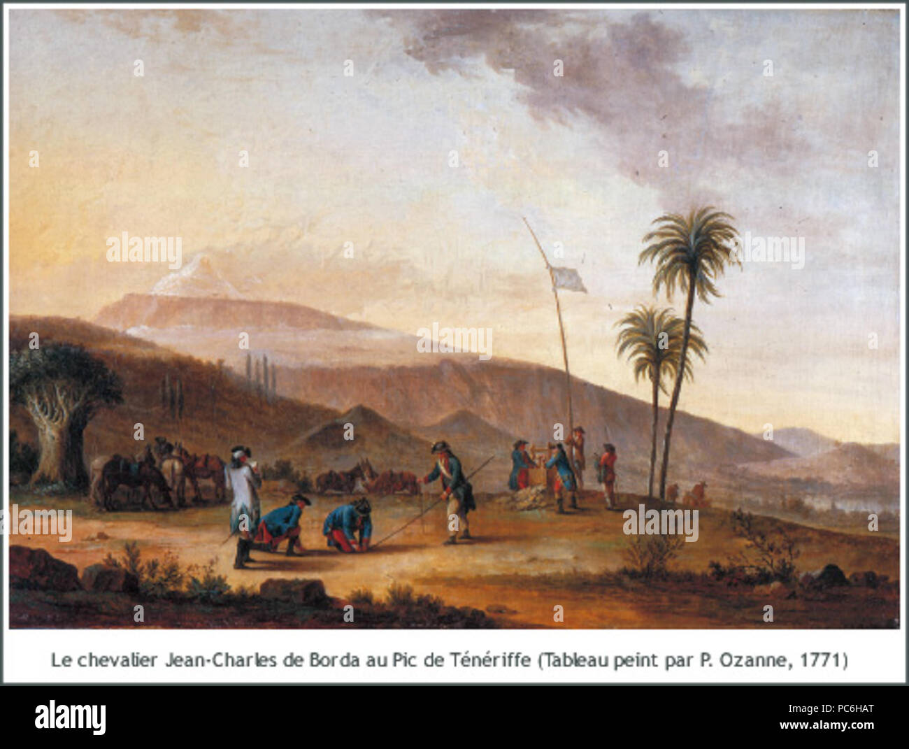 48 Jean-Charles de Borda mesurant le Pic de Ténériffe (1771)