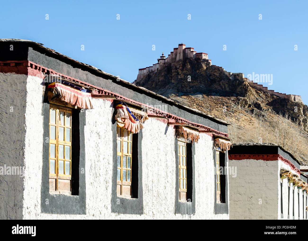 Gyantse Dzong or Gyantse fort, Tibet Stock Photo