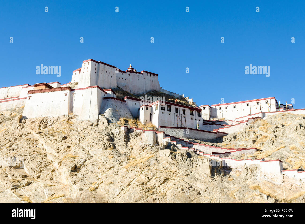 Gyantse Dzong or Gyantse fort, Tibet Stock Photo