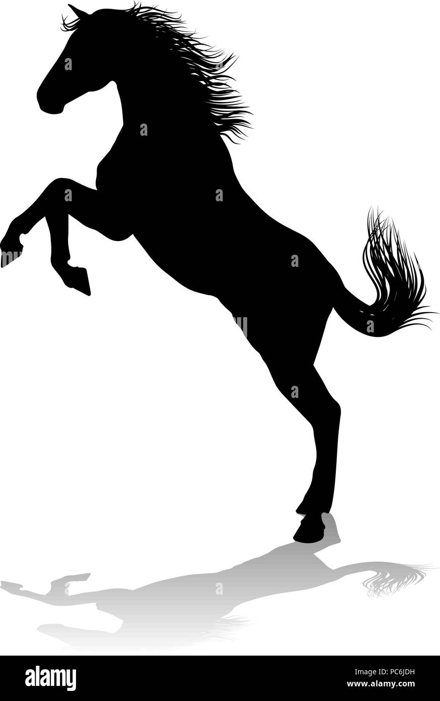 Bucking Horse Silhouette High Resolution Stock Photography And Images Alamy