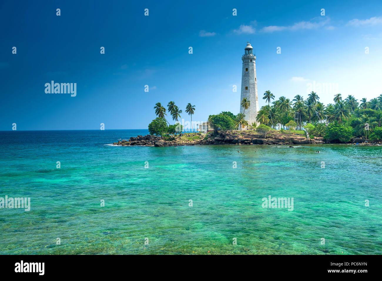 Dondara Light House, Matara, Sri Lanka Stock Photo