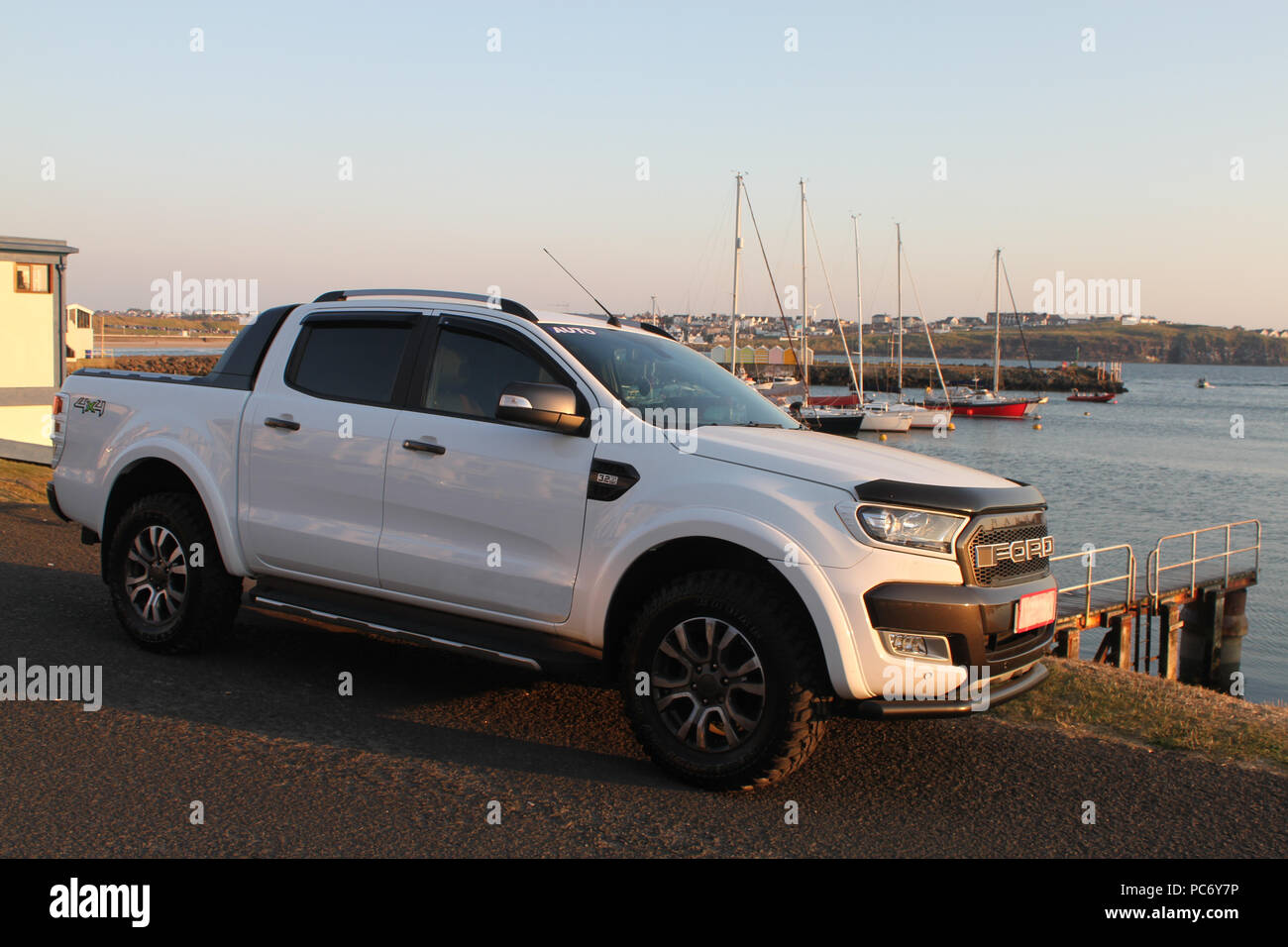 Ford Ranger at Portrush Harbour - Stock Image