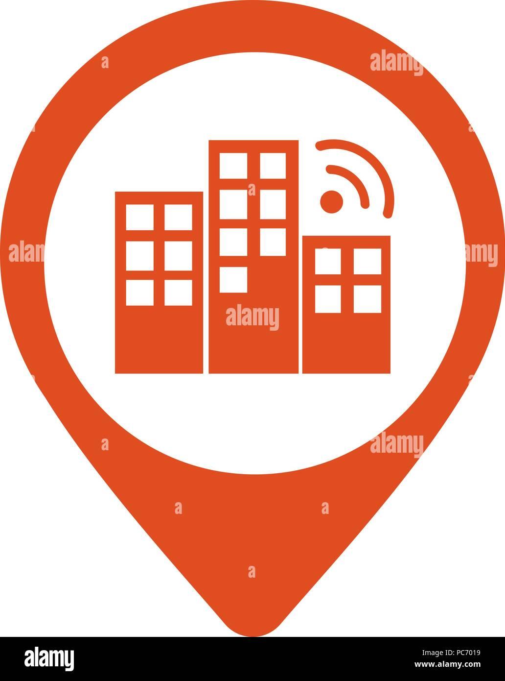 city locator design vector template pin maps symbol vector gps
