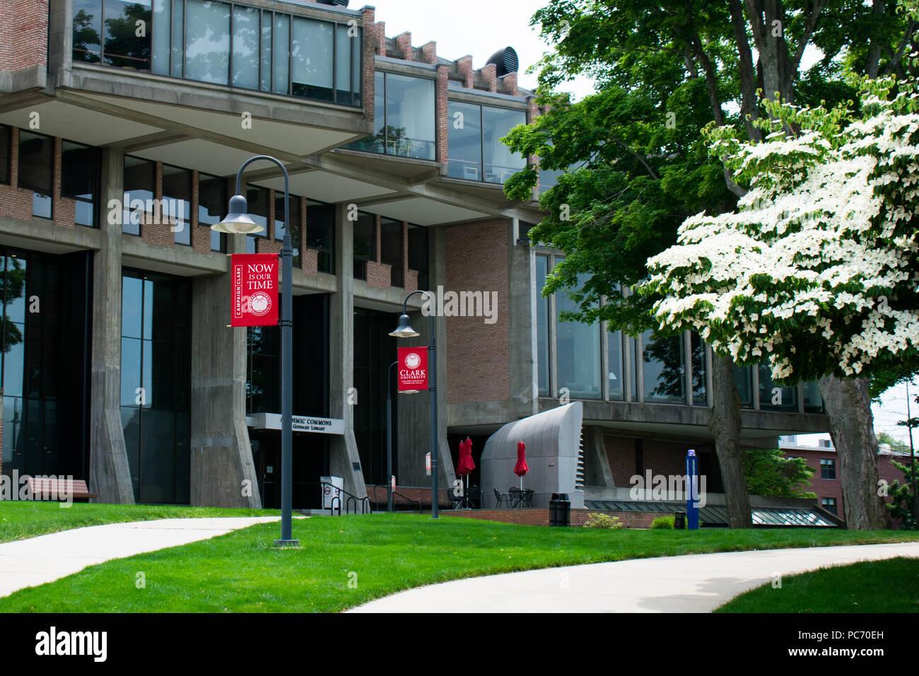 Clark University campus photos. Stock Photo
