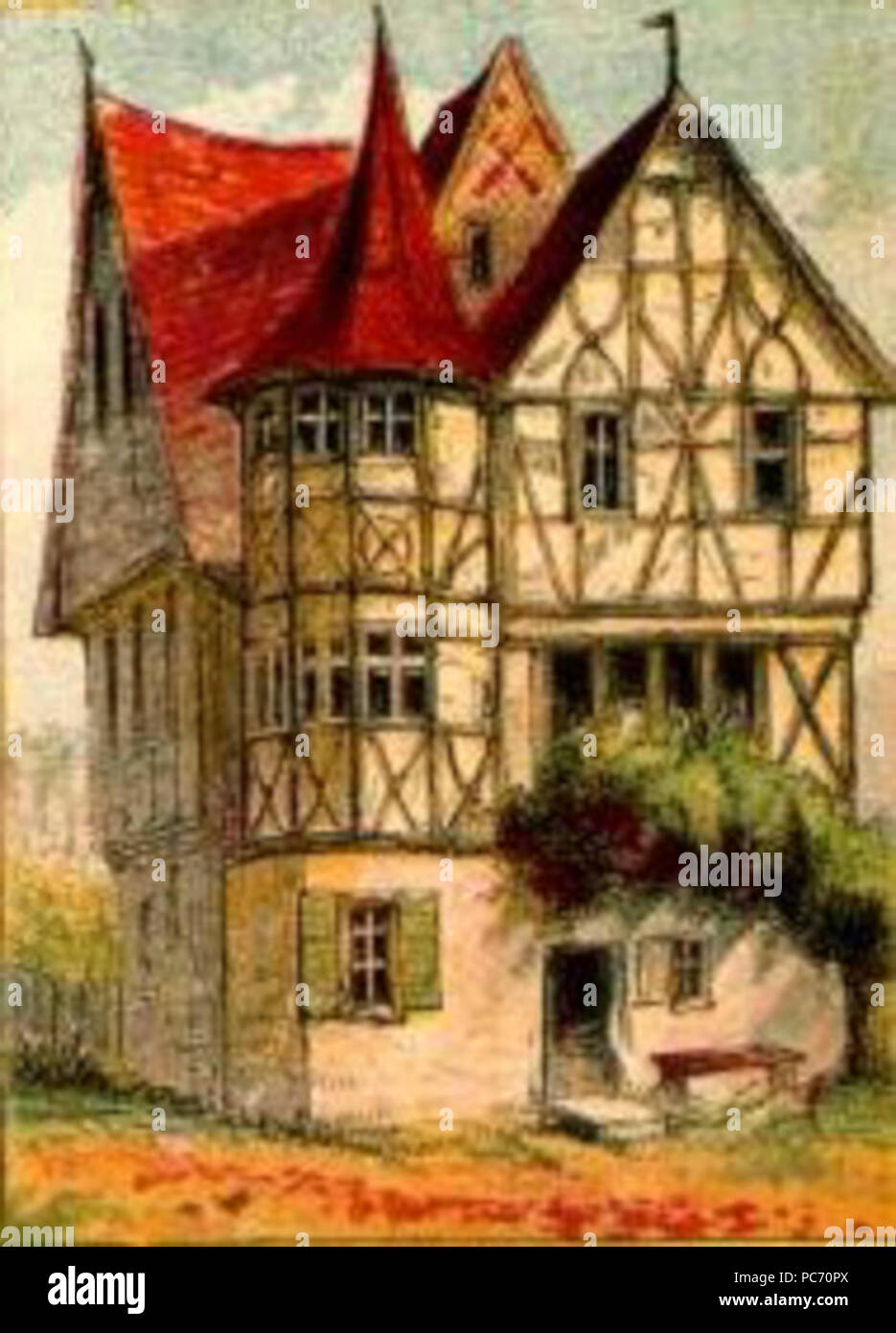 Mansion Drawing: Tudor House Drawing Stock Photos & Tudor House Drawing