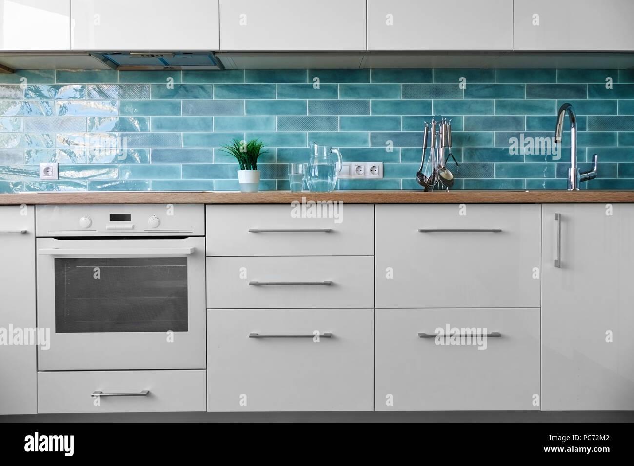 Interiors Kitchen Dresser Furniture Stock Photos & Interiors Kitchen ...