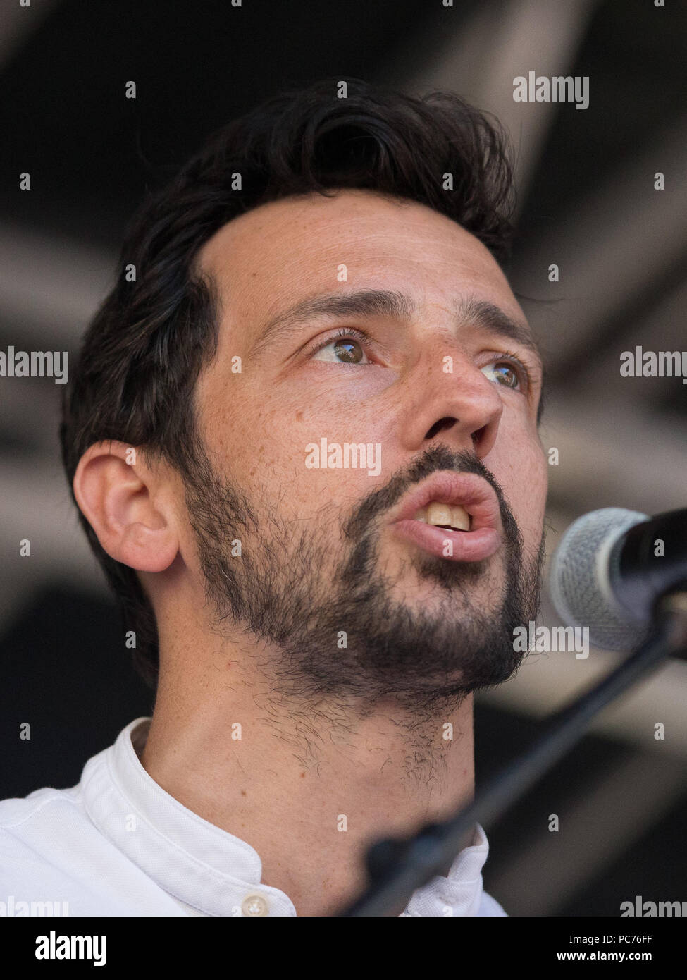 Tens of thousands of people join a huge demonstration to mark the 70th anniversary of the National Health Service.  Featuring: Ralph Little, Ralf Little Where: London, England, United Kingdom When: 30 Jun 2018 Credit: Wheatley/WENN - Stock Image