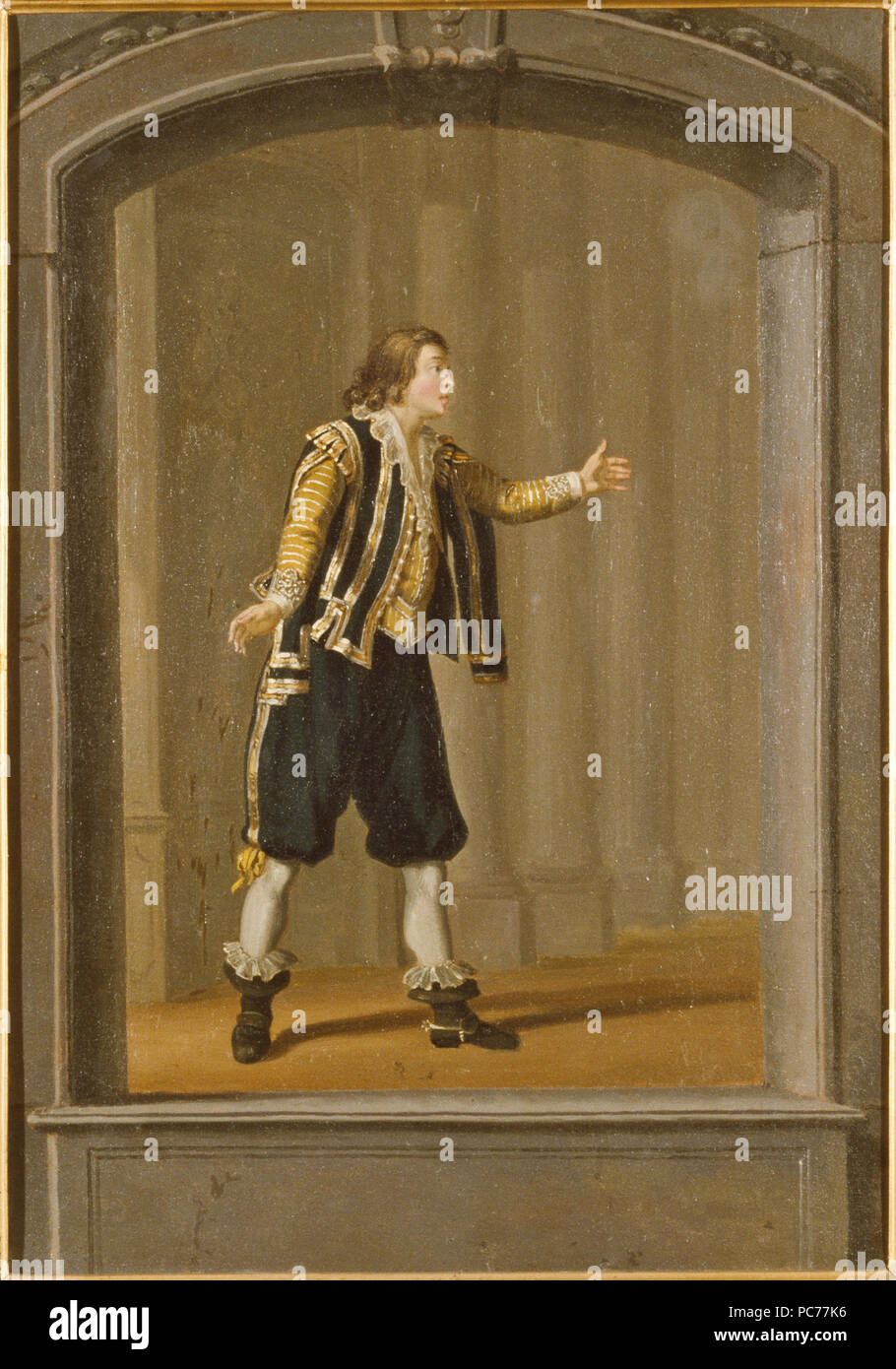 Pehr Hilleström d.ä., Tillskriven: Gustaf Mauritz Armfelt som Johansson i  ' Gustav Adolfs ädelmod'. NMGrh 279 40 Gustaf Mauritz Armfelt (Pehr Hilleström d.ä.) - Nationalmuseum - 14948 - Stock Image