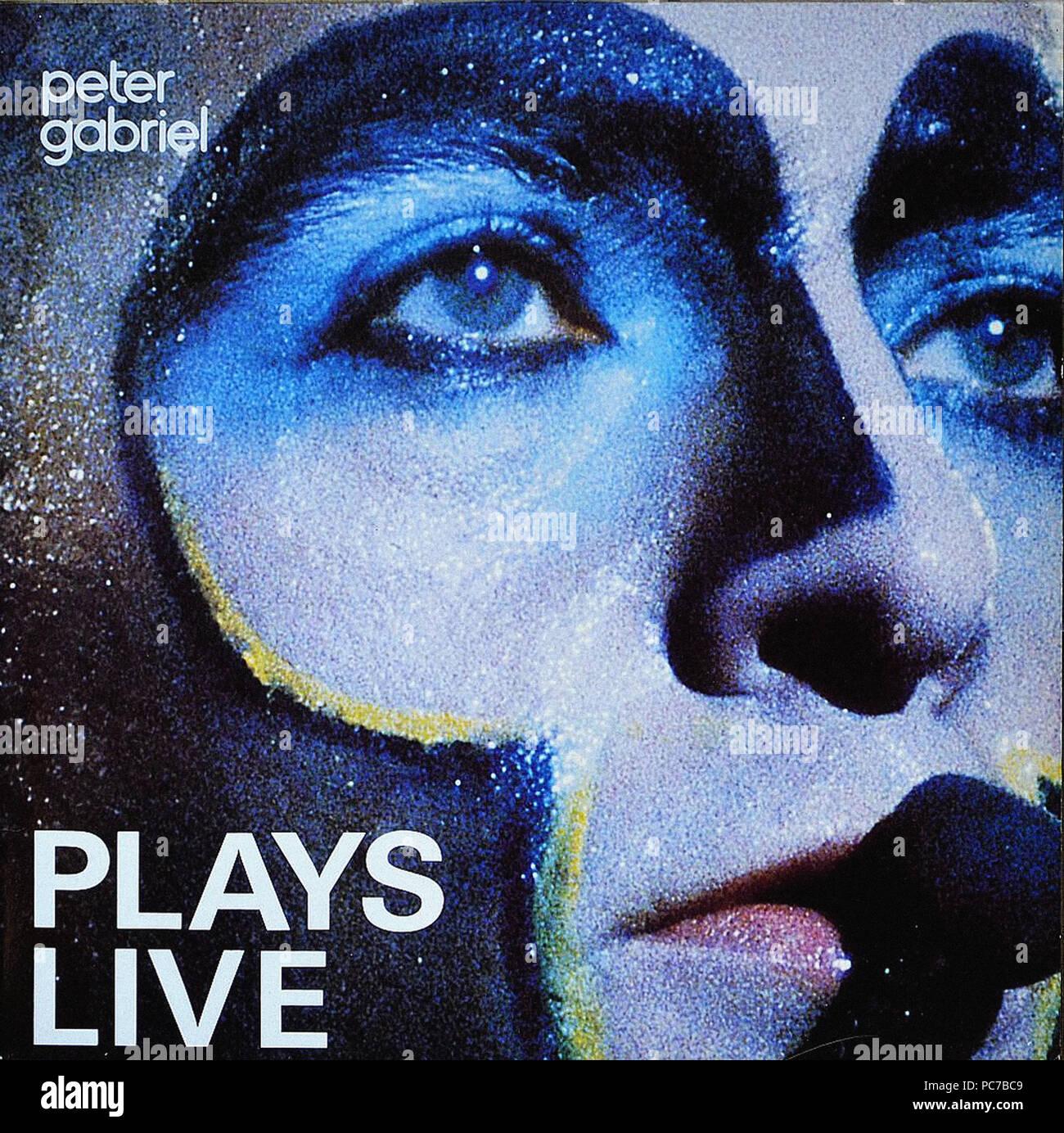Peter Gabriel - Plays Live - Vintage vinyl album cover Stock Photo