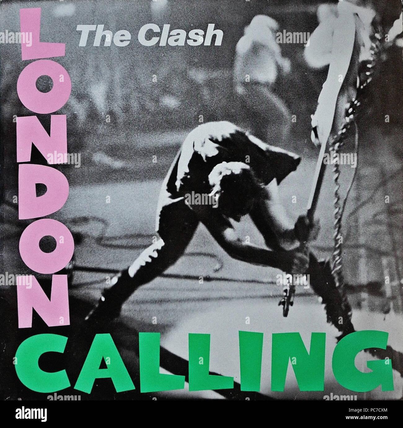 The Clash - London Calling - Vintage vinyl album cover Stock Photo ...