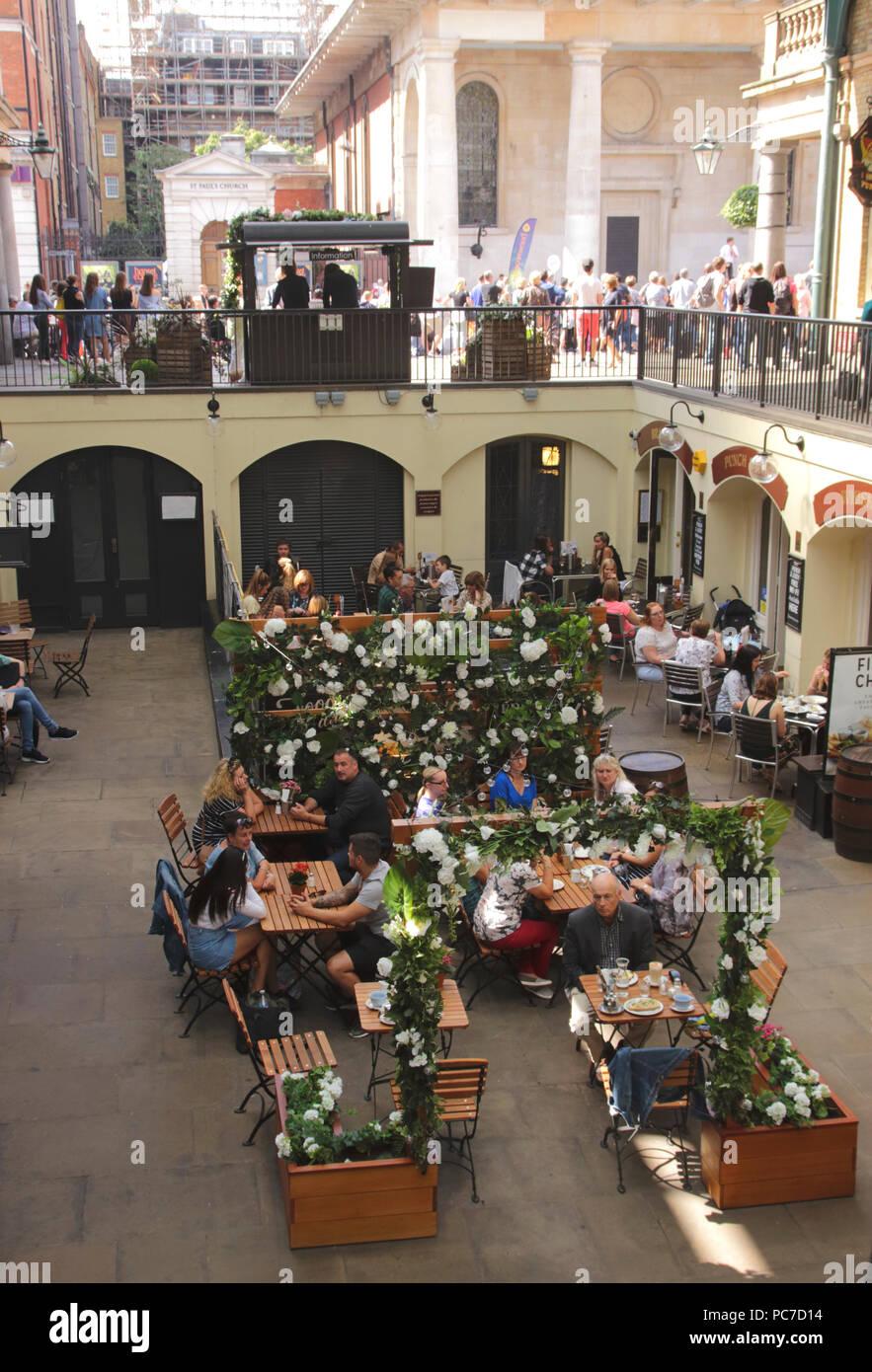 Inside Covent Garden Market London September 2017 Stock Photo