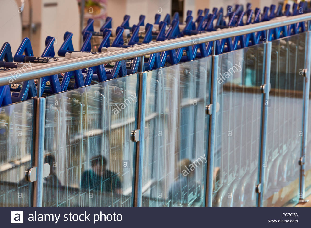 Facade abstract. Tesco Extra, Crewe, Crewe, United Kingdom. Architect: N/A, 2018. - Stock Image