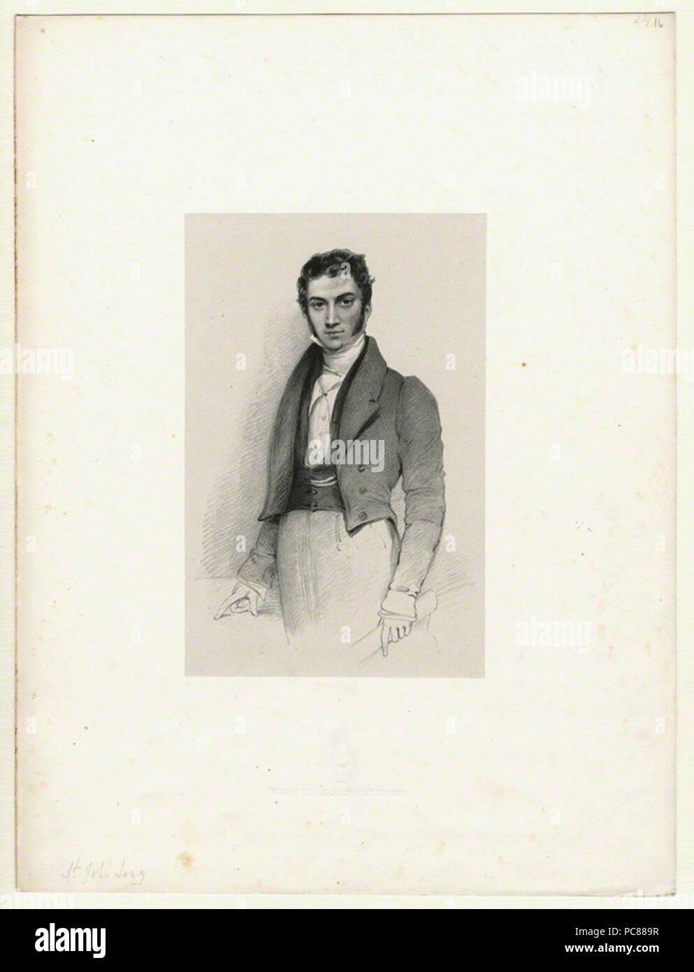by Richard James Lane, lithograph, circa 1825-1850 572 St.-John-Long-portrait-by-Lane - Stock Image