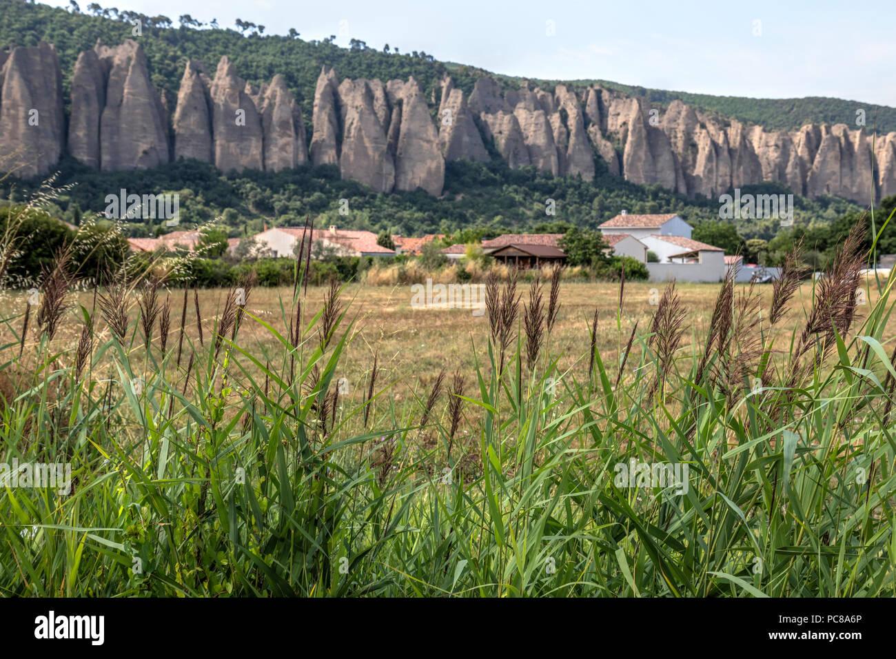 Les Mees, Alpes-de-Haute-Provence, Provence, France - Stock Image