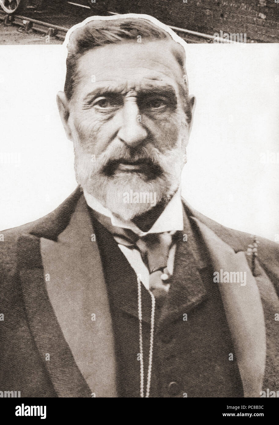 Sir Henry Rider Haggard, 1856 – 1925, aka H. Rider Haggard.  English writer of adventure novels.  From These Tremendous Years, published 1938. - Stock Image