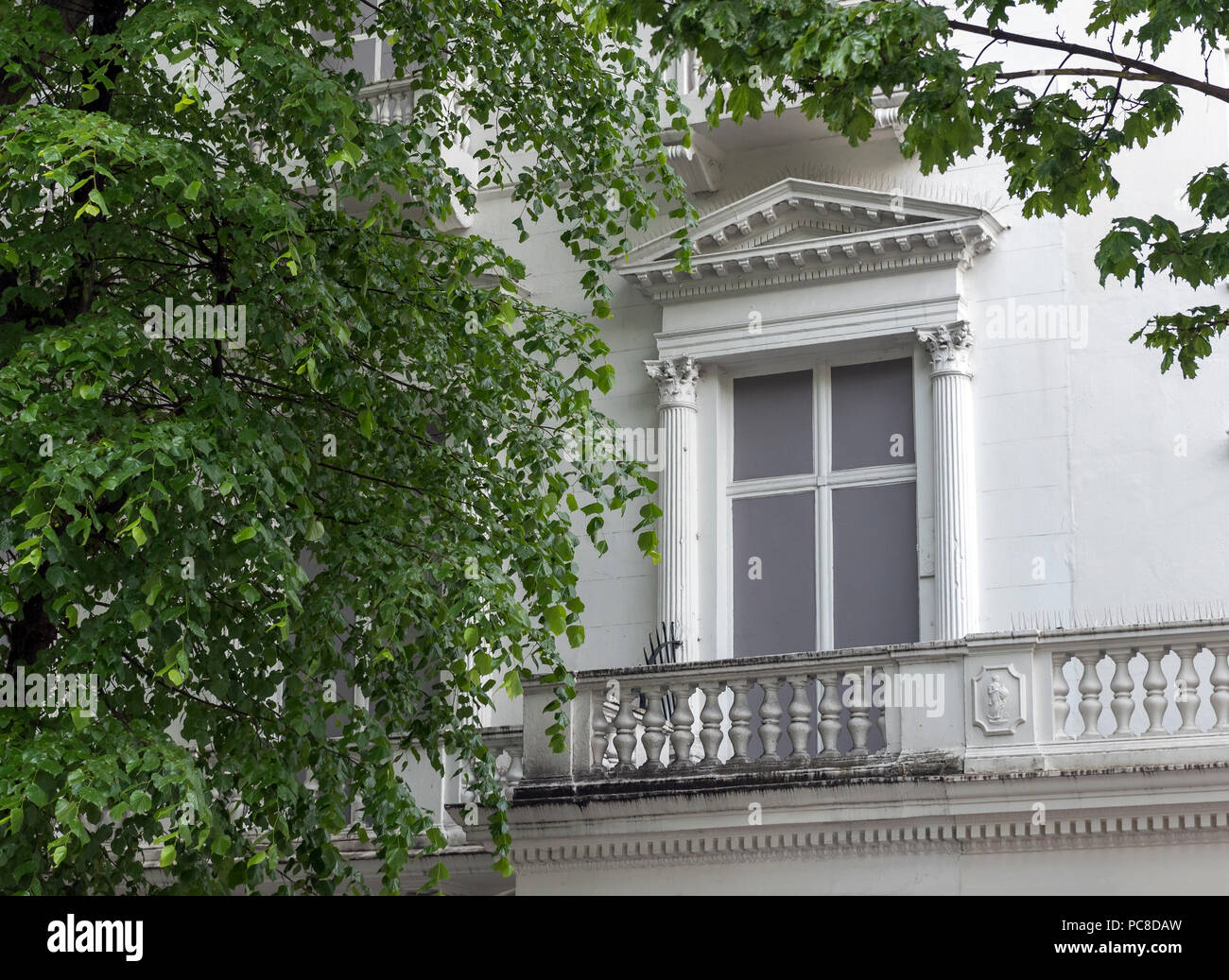 False facades of houses at 23 and 24 Leinster Gardens, Bayswater, London, UK - Stock Image