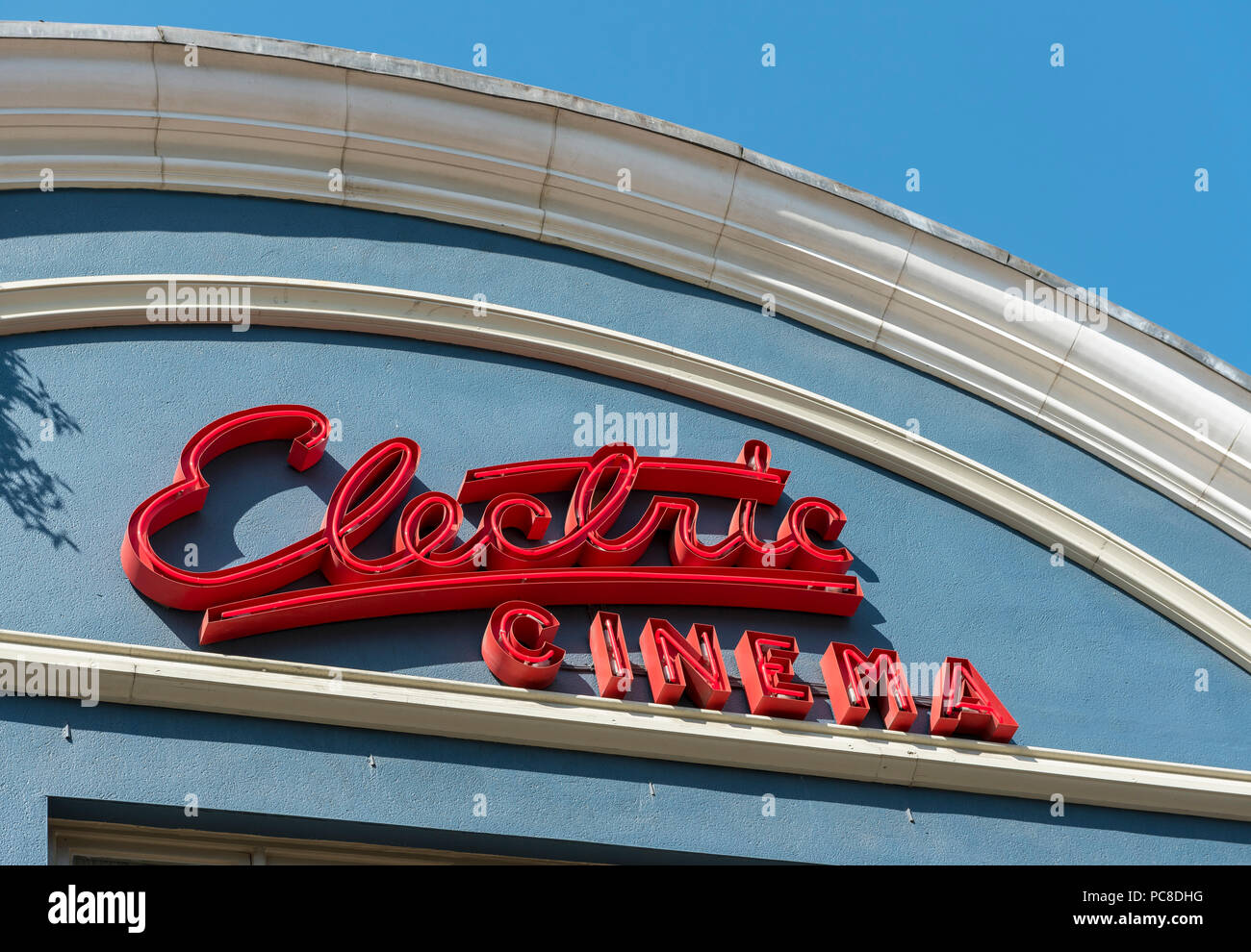 Electric Cinema neon sign, Portobello Road, Notting Hill, London, UK - Stock Image