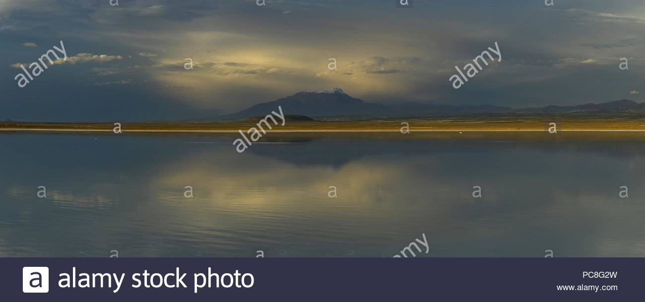 Clouds At Sunset Reflected On The Uyuni Salt Flats In Bolivia Stock Photo Alamy