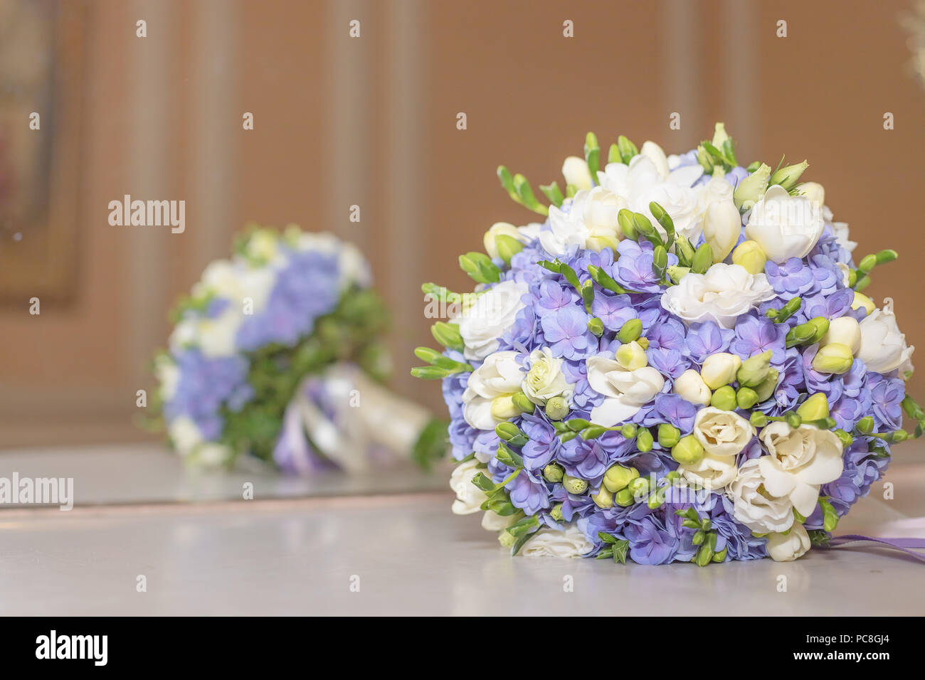 Wedding Bouquet Flowers Bridal Bouquet Beautiful White Blue Bouquet