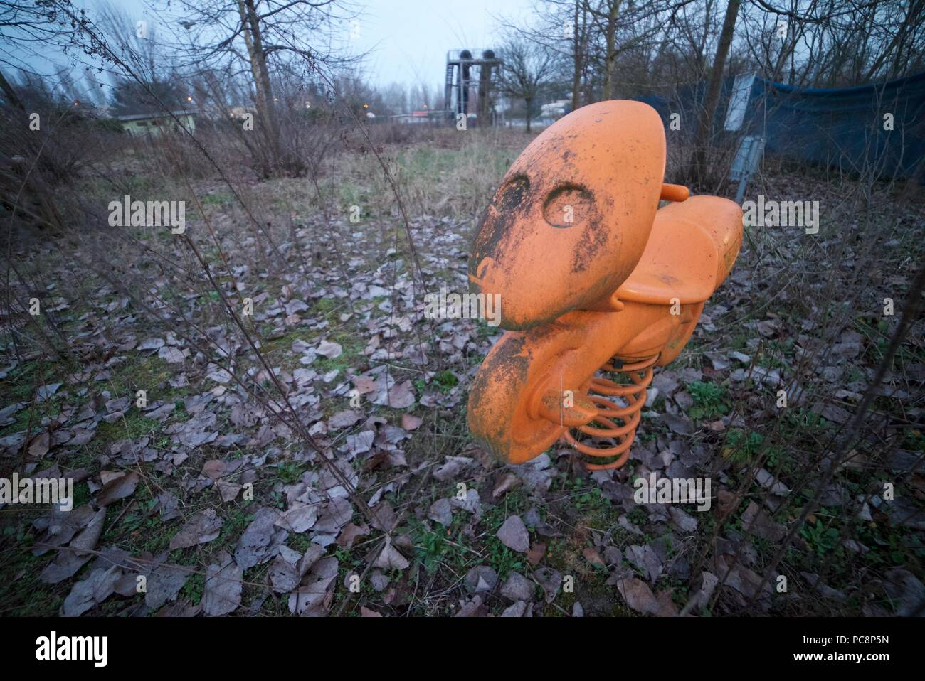 Creepy Abandoned Playground High Resolution Stock Photography And Images Alamy