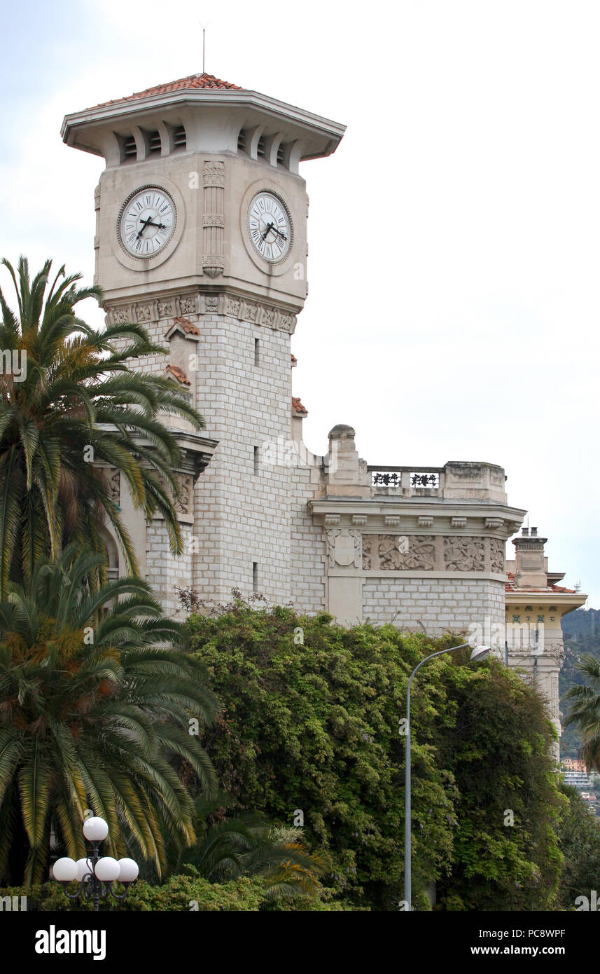 Lycee Massena in the city of Nice, France - Stock Image