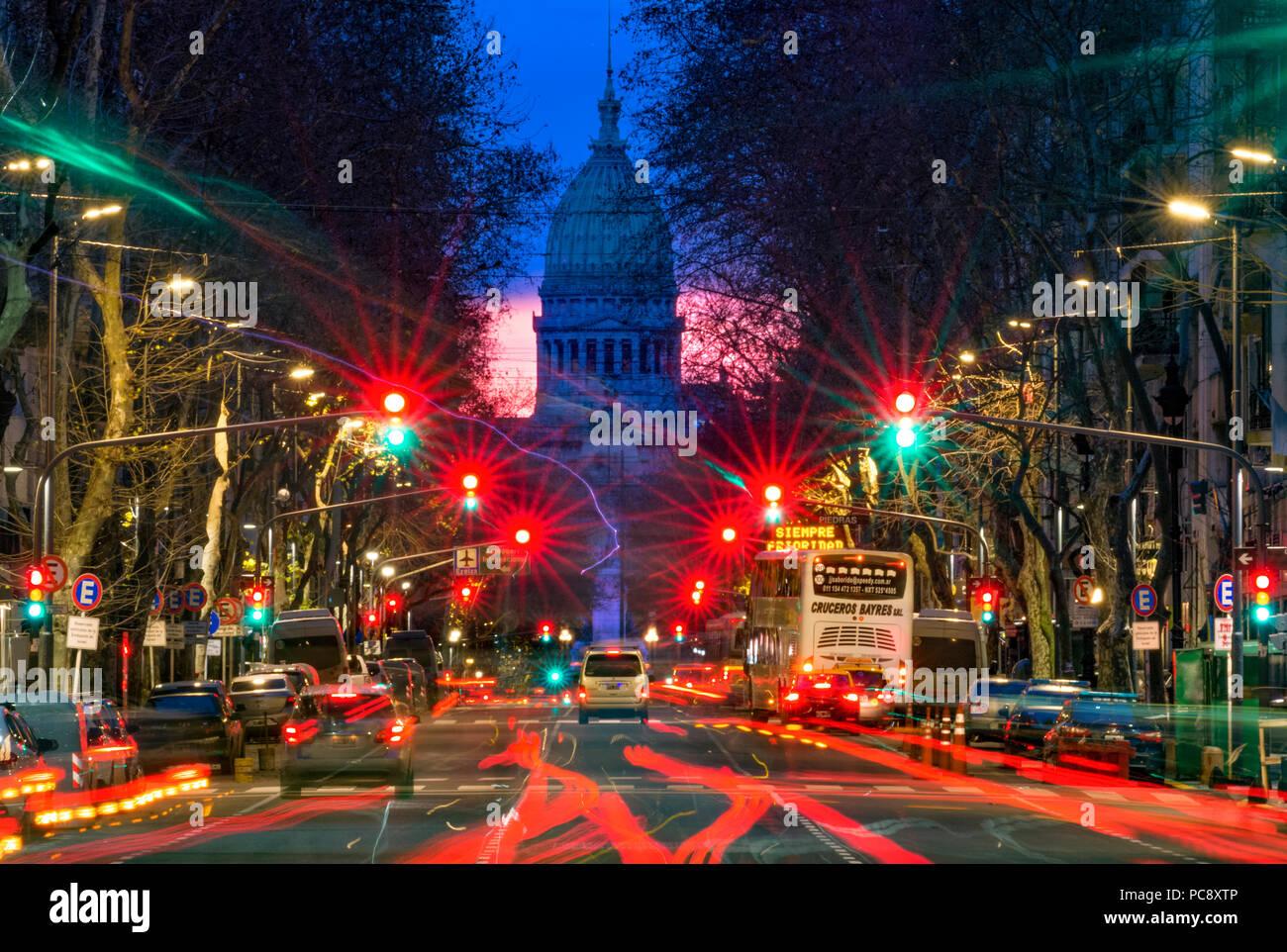 Argentina national parliament (Congreso). Buenos Aires, Argentina - Stock Image