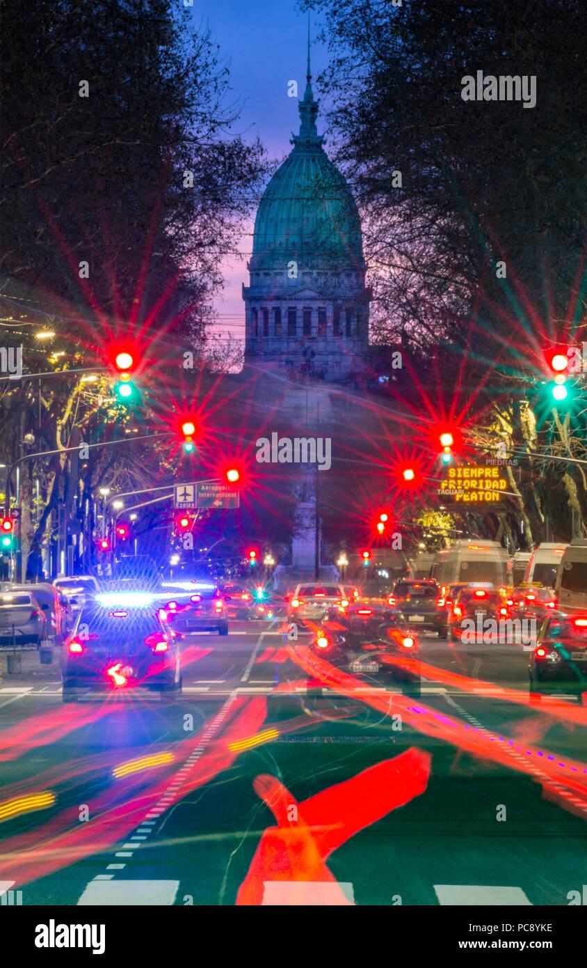 Argentina Parliament. Monserrat, Buenos Aires, Argentina - Stock Image