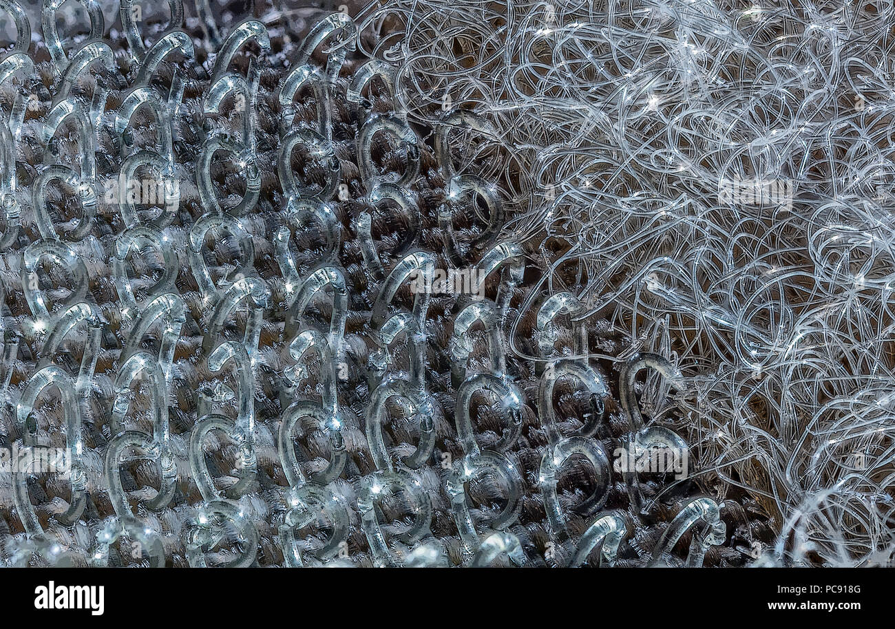 ECU of Velcro - Hooks & Loops - Stock Image