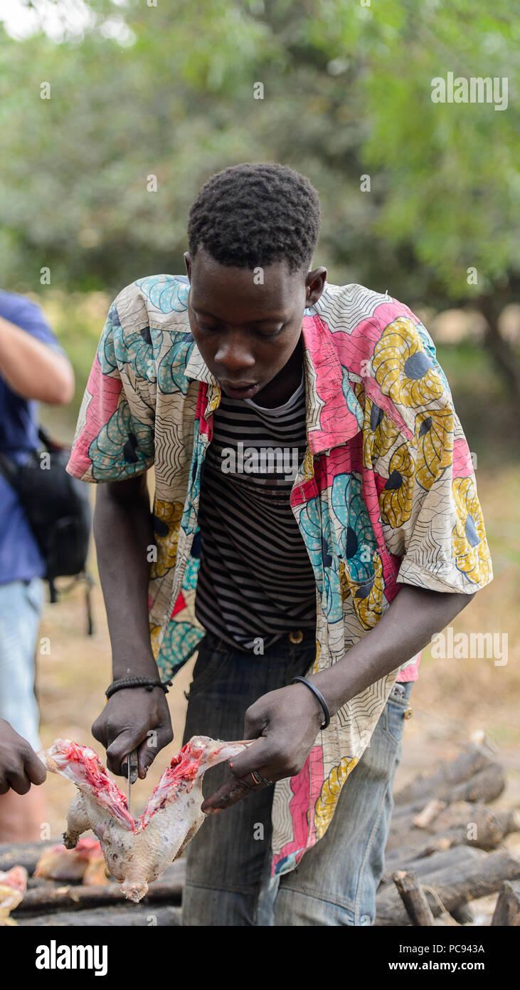 DANKOLI, BENIN - JAN 12, 2017: Unidentified Beninese man