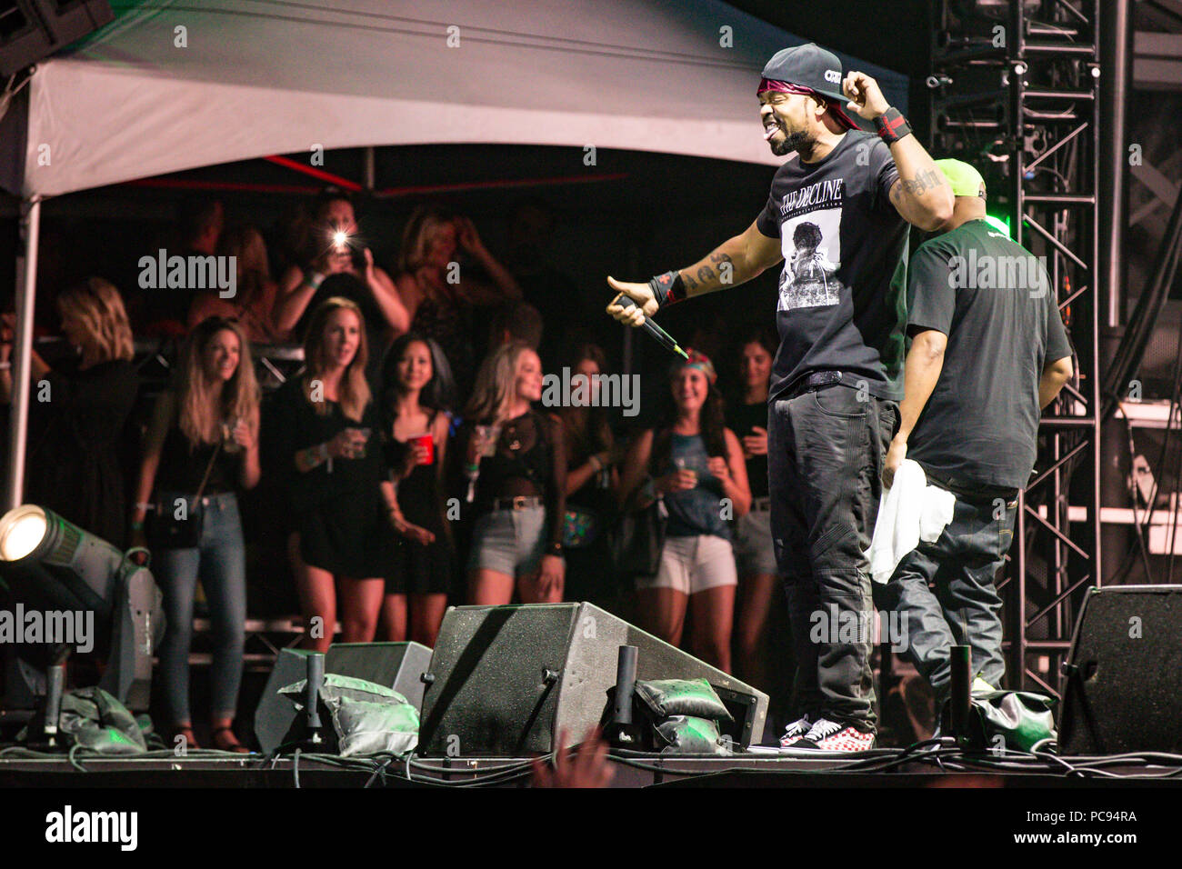 Vancouver, BC / Canada - July 28th 2018: American rap group Wu-Tang Clan performing at Center Of Gravity festival in Kelowna, BC - Stock Image