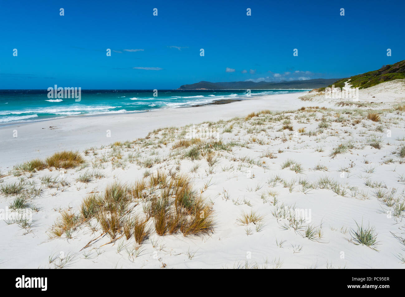 Beautiful beach scenery at Friendly Beaches in Freycinet National Park. - Stock Image